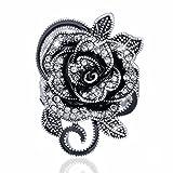 SMOO 2016 Newest Fashion Retro Crystal Jewelry Big Flower Shape Elegant Vintage Rings For Women (6.5)