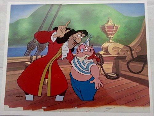 (Disney Peter Pan cel Captain Hook & Smee Villains Portfolio cell with COA)