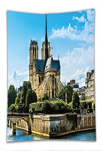 Costume Notre Dame De Paris (Nalahome Fleece Throw Blanket Paris Decor Collection Cathedrale Notre-Dame De Paris Ancient Monumental Travel Destinations Cityscape)