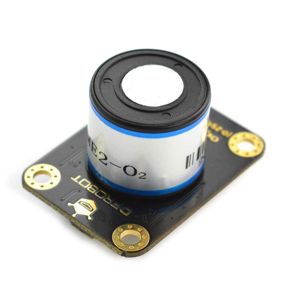Gravity: I2C Oxygen Sensor Compatible with Arduino and Esp32 Suitable for Portable Air Quality Monitoring Device 0-25/% Vol | High Sensitivity High Stablility High Anti-Interference