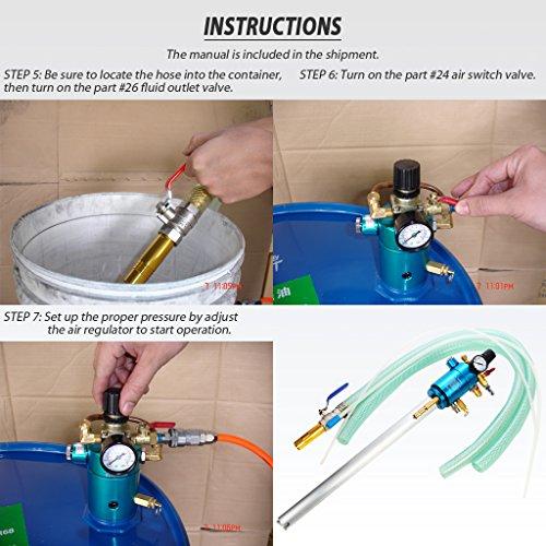Ajuste Herramientas 2 way Extracto y dispensar de alto flujo 200 Liter/depósito de 50 litros neumático Aceite y líquido Extractor/Evacuator/ dispensador: ...