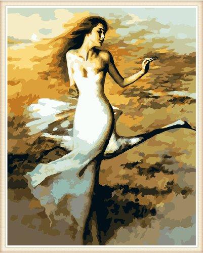 Diy oil painting, paint by number kit- Swan Dancer 16*20 (Swan Dancer)