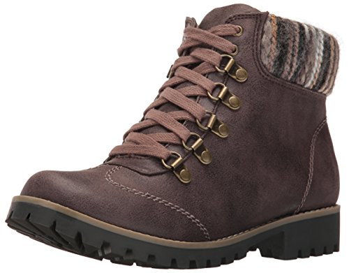 Mountain Boots (Cliffs by White Mountain Women's Portsmouth Ankle Bootie, Dark Stone, 8 M US)