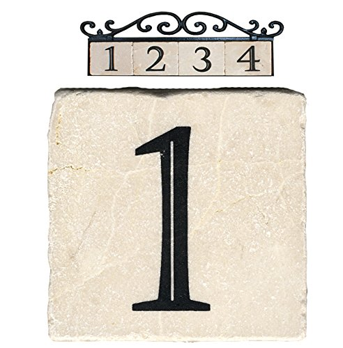 Nach az classic house address number tiles 1 marble for Classic house numbers