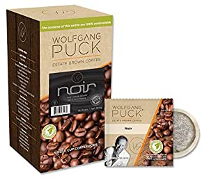 Wolfgang Puck Coffee, Noir, 12 Gram Pods, 16 count
