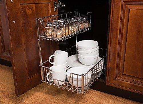 Trinity Sink Cabinet Sliding Undersink Organizer, 1 Pack, Chrome