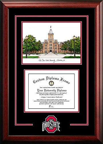 (Campus Images OH987SG Ohio State Buckeyes Spirit Graduate Diploma Frame, 8.5