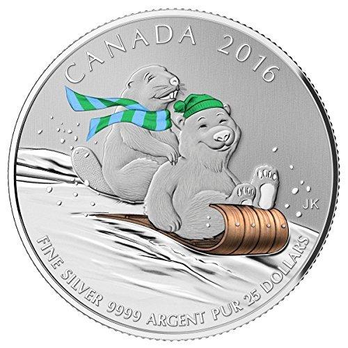 2016 Canada $25 Winter Fun - Fine Silver Coin $25 Mint State