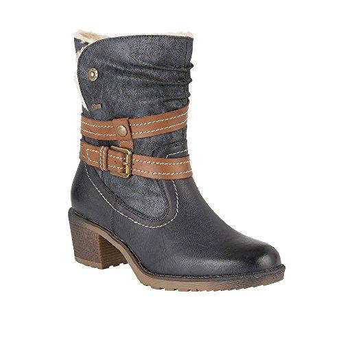 Lotus Relife Mallory Marine Matt & Microfaser-Ankle-boots 37
