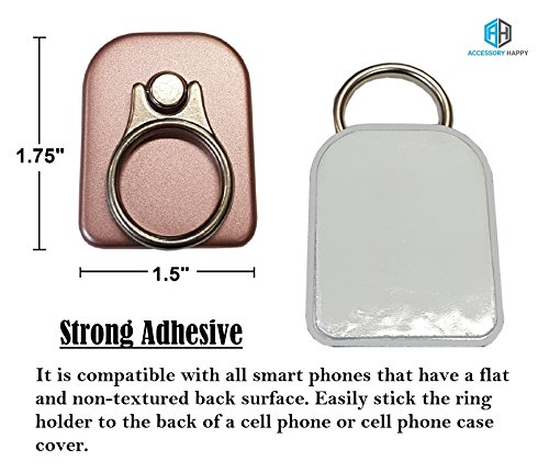 AccessoryHappy Universal 2 in 1 Phone Lanyard & Ring Stent, Cell Phone Tether Neck strap Holder Ring Stent Kickstand For iPhone 5 6 6S 7 8 8 Plus Galaxy S7 Note 3 4 5 and Other Mobile Phones (Pink) by AccessoryHappy (Image #2)