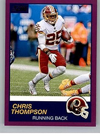eac3f3b385e 2019 Score Purple Football #198 Chris Thompson Washington Redskins Official  NFL Trading Card From Panini