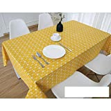 DW&HX Nordic Cotton Linen Table Cover Tablecloths Table Cloth Small Fresh Square Lattice Home Kitchen Easy Care Washable Tablecloth-B 47x484inch(120x1230cm)
