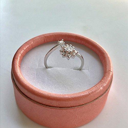 Star Ring Opening Women Girls swan Turned Corner Crossing s925 Sterling Silver Crown Ring Zircon Creative Love (Snowflake Ring 2