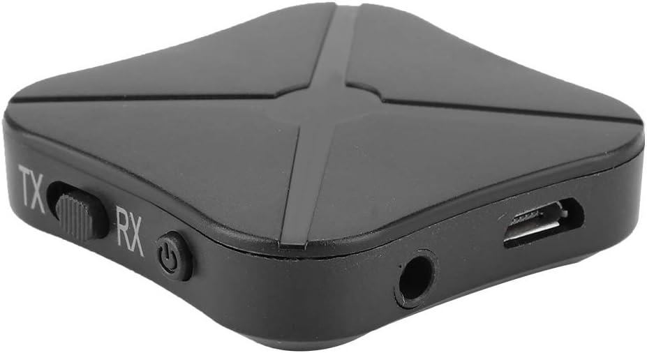 Tosuny Adaptador inalámbrico Bluetooth KN319, transmisor/Receptor, Receptor de Audio estéreo Amplia compatibilidad, Adecuado para computadora/computadora portátil/Auriculares/Reproductor
