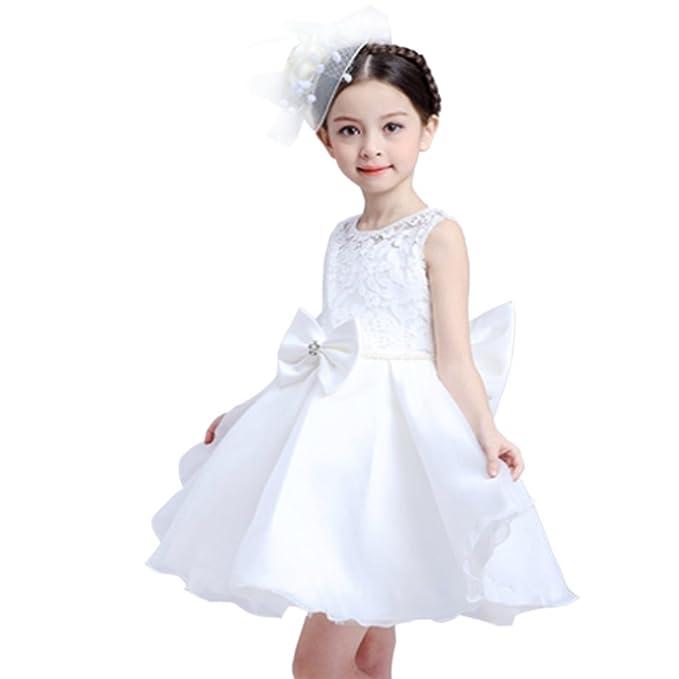 Vestidos de gasa color blanco