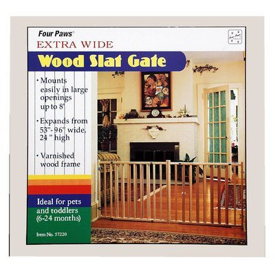 Four Paws 100203596/57220 Vertical Wood Slat Gate by Four Paws ()