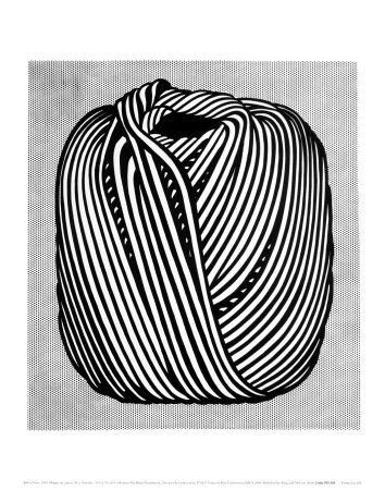 Ball of Twine, 1963 Art Poster Print by Roy Lichtenstein, 11x14