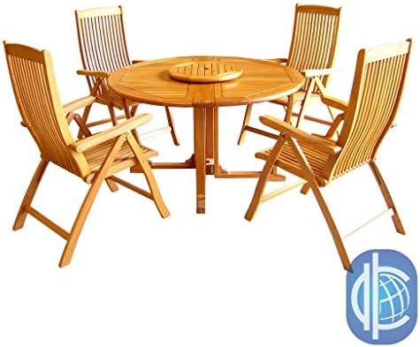 International Caravan Furniture Piece Royal Tahiti Round Wood Gate Leg Table