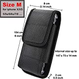 Waist Phone Holster for Cubot King Kong 3, Motorola G7 Optimo for Samsung Galaxy Note 10, ZTE Blade A7 Prime/Nubia Z20 Belt Clip Case Nylon Pouch with Belt Loops Metal Clip