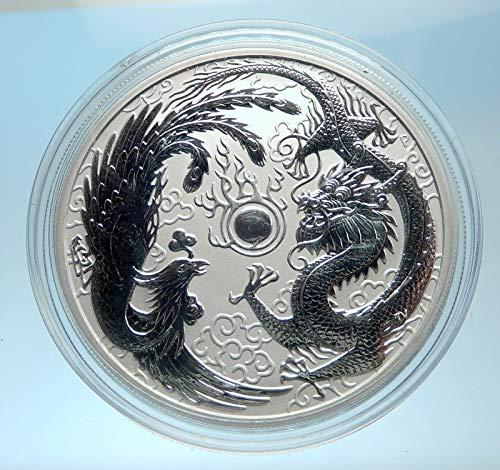 (2017 unknown 2017 AUSTRALIA UK Queen Elizabeth II Dragon & Pho coin Good Uncertified)