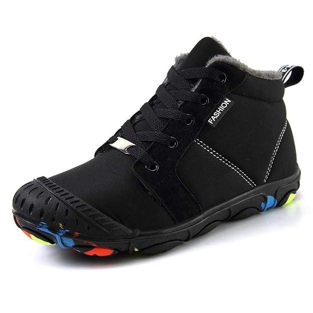 Zapatos de Invierno para niños Zapatos Deportivos para niños Botines Negros Zapatos de algodón cálido Antideslizantes Impermeables para niños Martin Botas: ...