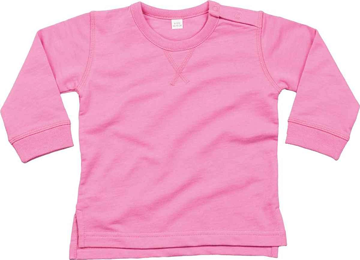CreativeMinds UK Babybugz Baby Sweatshirt Long Sleeve V Stitch Neck Rib Cuffs Warm Sweater