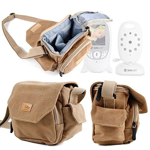 DURAGADGET Tan-Brown Medium Sized Canvas Carry Bag - Compati