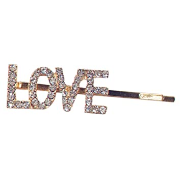 c40332c4c0 Simdoc 1 Pc Hollow Out Letters Bobby Pin Hair Clip Luxury Shimmer  Rhinestone Letters Hairpin Styling...