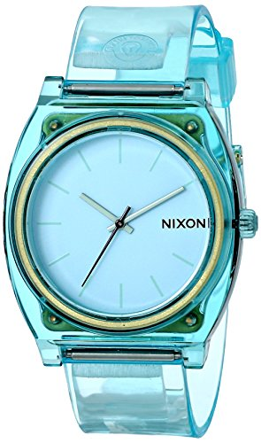 With a sleek, simple design and colors that rival your last acid trip, the Nixon Time Teller P Watch does exactly what its name implies. This no-frills, high-style watch resists water up to 100 meters, and its 3-hand Japanese quartz keeps you...