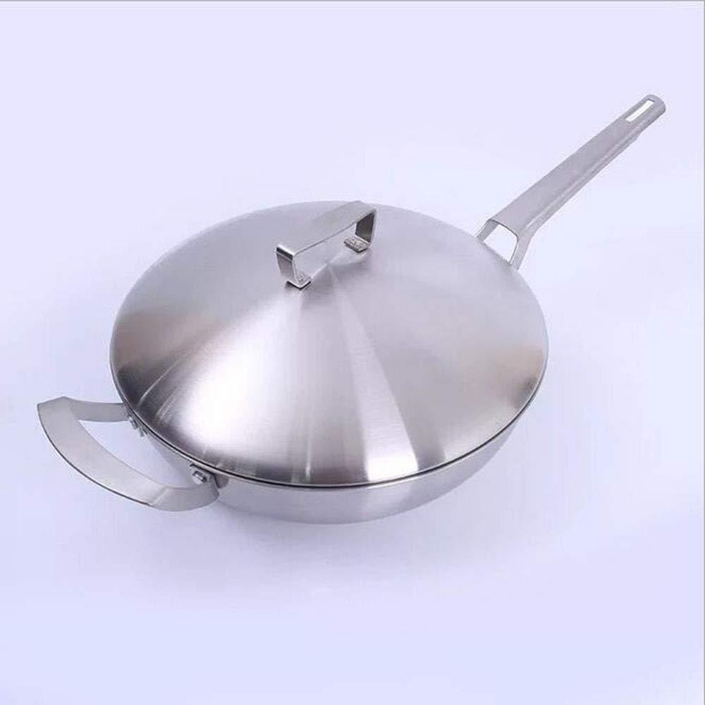 Cacerola antiadherente wok de acero inoxidable wok de cinco ...