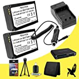 Two Halcyon Samsung NX1100 Mirrorless Digital Camera mAH Lithium Ion Replacement Halcyon 1200 mAH Lithium Ion Replacement BP-1030 Battery + Memory Card Wallet + Multi Card USB Reader + Deluxe Starter Kit for Battery and Charger Kit + Memory Card Wallet +