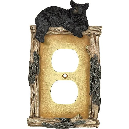 Bear and Twig Rustic Outlet Cover - Lodge Decor by Black Forest Decor