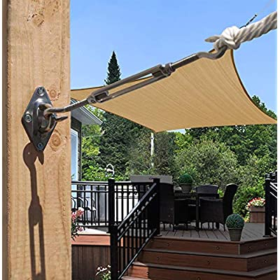 SUNRAIN Shade Sail Hardware Kit for Triangle/Rectangle Sail Installation 8 Inch(2 Sets) Heavy Duty Sun Shade Sail Accessories for Patio : Garden & Outdoor