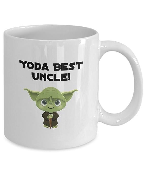 Yoda Best Uncle   11oz White Ceramic Coffee Mug   Funny Yoda Gift   Funny  Uncle Gift   Uncle Christmas Present: Amazon.ca: Home U0026 Kitchen
