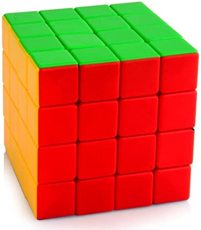 Toyshine High Stability Stickerless - 4x4 Speed Cube, Multi Color