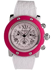 GLAM ROCK WOMENS SUMMER TIME 46MM SILICONE BAND SWISS QUARTZ WATCH GR30108FW
