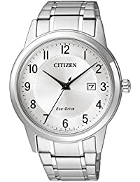 Citizen Men's Eco-Drive AW1231-58B Silver Stainless-Steel Plated Dress Watch