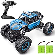 RC Car, SHARKOOL 2020 Updated 2.4Ghz 4WD 1/16 Scale RC Trucks Rc Crawlers Remote Control Car with Two Recharge