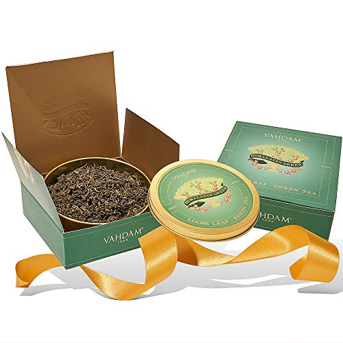 VAHDAM, Himalayan Green Tea Gift Set | 100% Natural Ingredients | Packed at Source in India | Best Holiday Gifts Set | Tea Sets for Tea Lovers | Green Tea Gift Set
