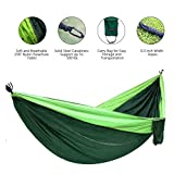Camping Hammock Double Single Portable Lightweight Hanging Bed High Strength Parachute Nylon Fabric Pro Hammock With Ropes Carabiners For Backpacking Camping Travel Beach Yard Mats Cots ENO