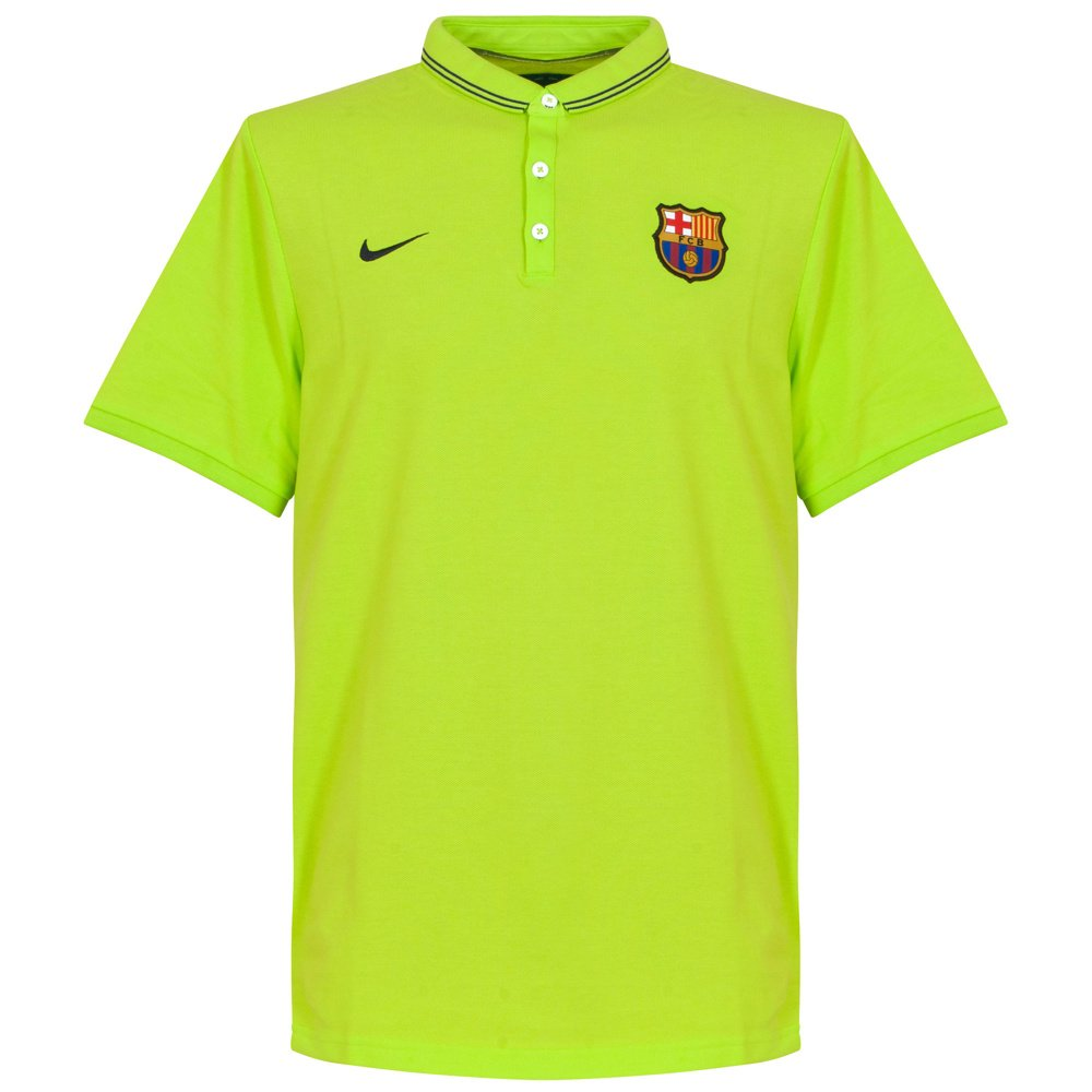 Nike polo pour homme fC barcelona authentic fA14 league SMALL Jaune/noir - Jaune