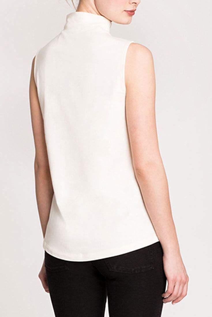 The Perfect Mock Neck L Bone NIC+ZOE