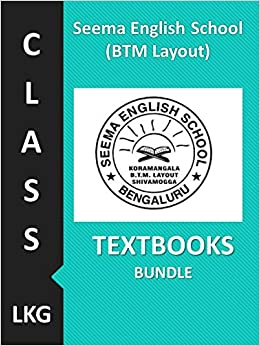 Seema English School BTM Layout Class LKG, Textbooks Bundle