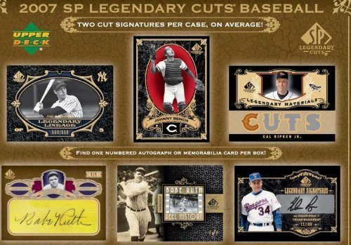 2007 Upper Deck SP Legendary Cuts Baseball Factory Sealed...