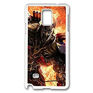 VUTTOO Rugged Samsung Galaxy Note 4 Case, Lockdown Transformers Age Of Extinction White Plastic Hard Case Back Cover for Samsung Galaxy Note 4 N9100