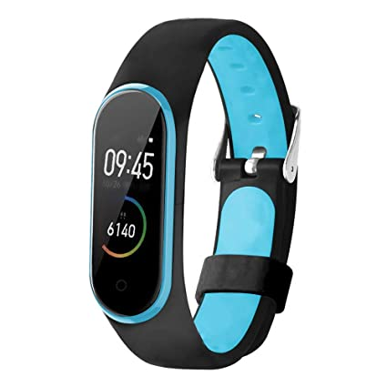QHOHQ Wristband for Xiaomi Mi Band 4 / Mi Band 3, Plastic Soft Silicone Waterproof Replacement Smart Watch Wristband (Black)