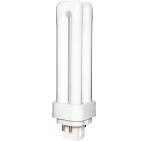 Double 25 Piece Tube CFL-2 Pin-2700K GX23-2 Base Compact Fluorescent Lamp Overdrive 017 ODD18W//27K 25-Pack 13W Quad