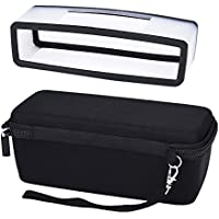 Mudder Hard Travel Carrying Case with Black Soft Cover for Bose Soundlink Mini I and Mini II Bluetooth Speaker
