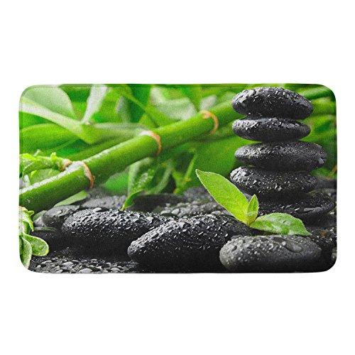 CIGOCI Non-Slip Washable Bath Shower Mat Absorbent Quick-Drying Doormat Suit for Indoor/Outdoor/Frontdoor/Bedroom/Livingroom/Patio Asian Zen Garden Stone Bamboo Zen from CIGOCI