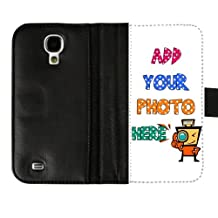 DIY Create Customize Your SamSung Galaxy S4 I9500 Wallet Flip Black Leather Cover Case with Card Holder -- Custom Case Best Gift To Someone You Love